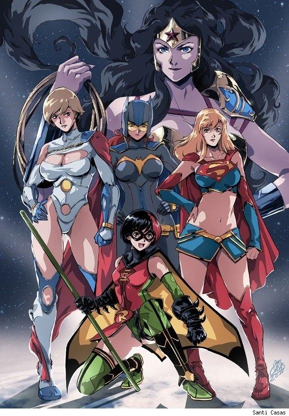 Anime DC Ladies by Santi Casas