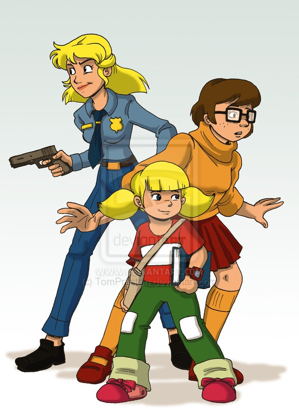 Girl Crime Fighters by Tom Preston