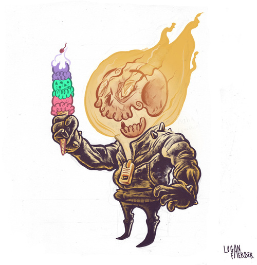 Ice Cream and Ghost Rider by Logan Faerber