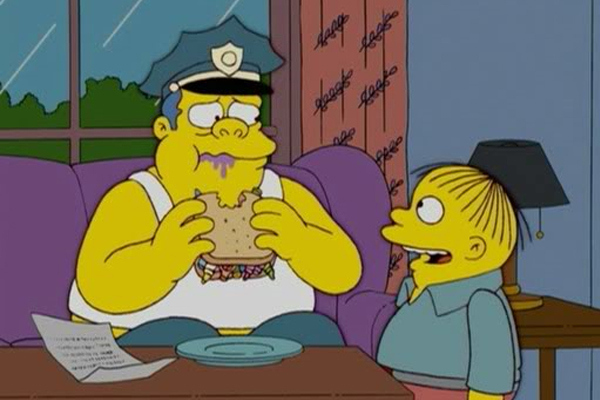 Chief and Ralph Wiggum from 'The Simpsons'