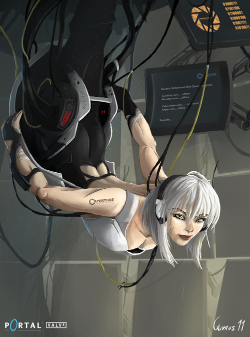GLaDOS as a Woman by Quintus Cassius