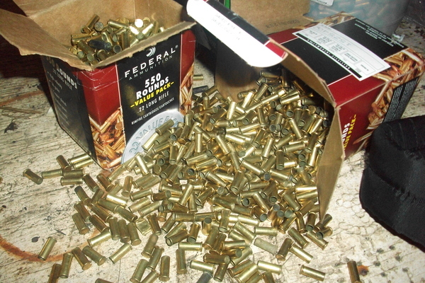 Down at the rifle range! (SO MANY SHELLS)