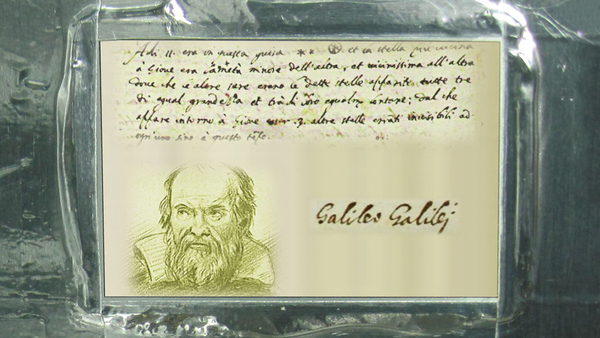 Galileo will also have an additional honor - this 2-inch tall space-grade aluminum plaque provide...