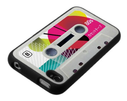 iPhone 4 / 4S Case: Japanese Retro 80s Colorful Cassette Tape