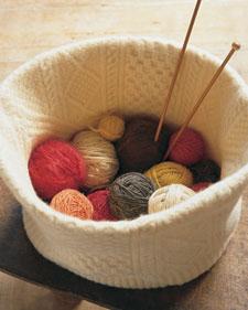 Felted basket: