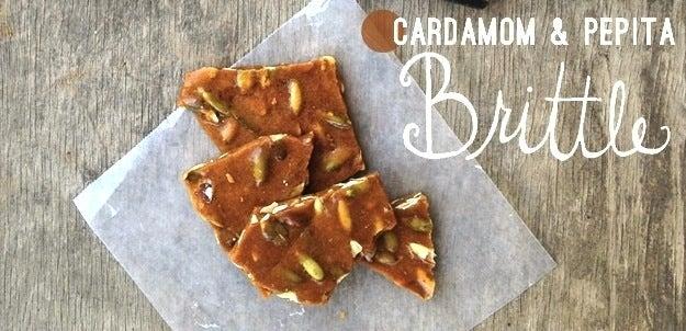 Recipe: Cardamom & Pepita Brittle