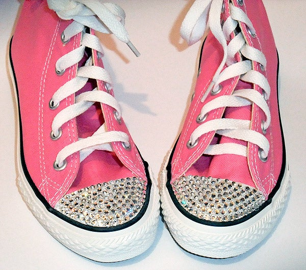 Bedazzle your toes with adhesive and Swarovski crystals (yes, you really can add these to anything). All the details are here.