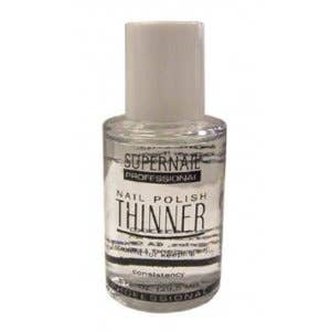 You may have read that acetone does the trick, but despite working in the short run, it will ruin the polish eventually. This nail polish thinner is $5 from Amazon.