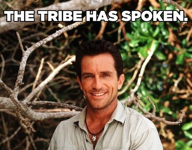 With Jeff Probst.