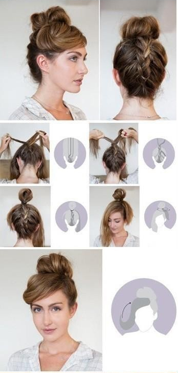 Braided-Back Bun
