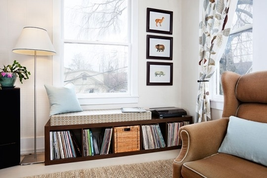 Store Vinyl in a Bench or Window Seat