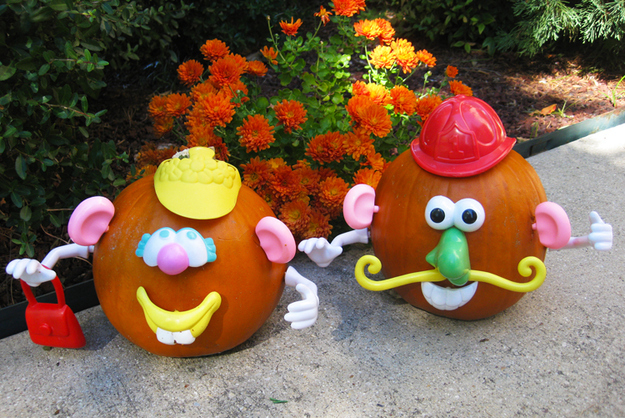 Mr. and Mrs. Potato Head Pumpkins