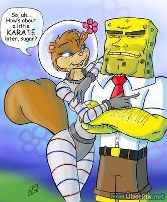 Spongebob & Sandy