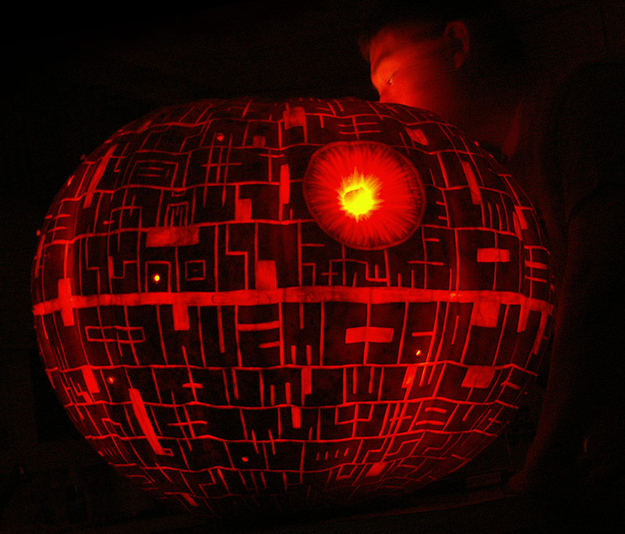 Deathstar on a 186lb Pumpkin by Noel D. in Centreville, VA