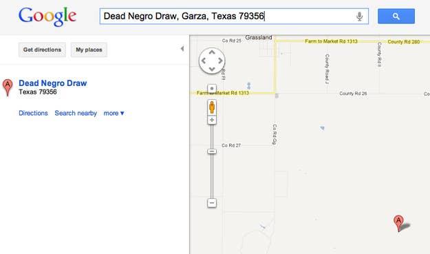 Formerly Dead Nigger Draw.