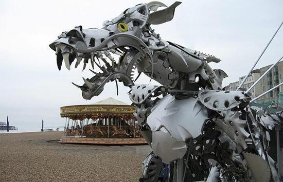 More Hubcap Sculpture Art Here