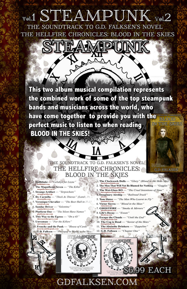 Steampunk Vol1 & Vol 2 . These are the 21 Steampunk songs and bands of the first ever Steampu...