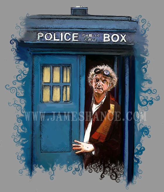 Another Doctor in the Tardis by James Hance