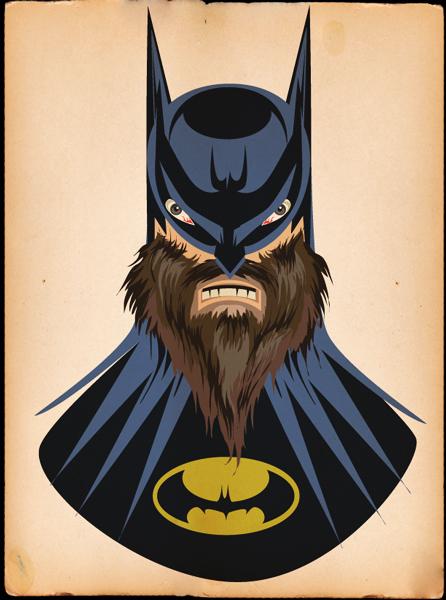 Beardy Batman by Jeff T. Owens