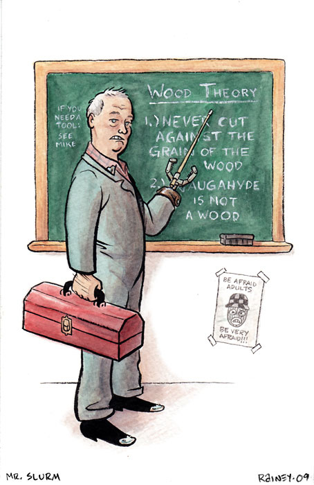 Shop teacher Mr. Schurm by Jasonismwow