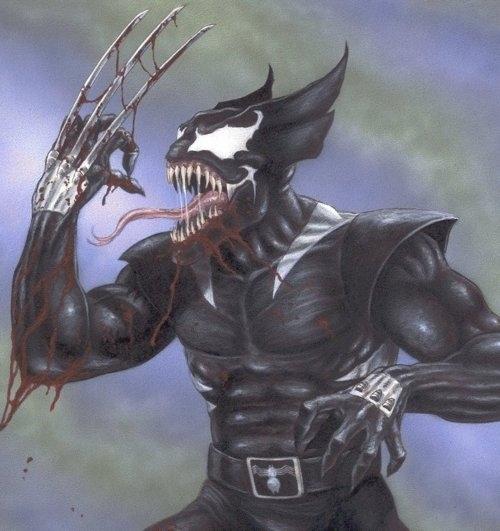 Wolverine + Venom by Tommy Pons