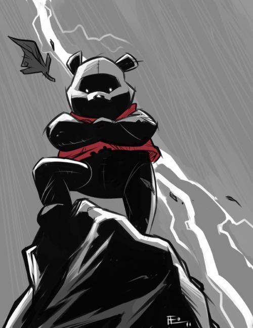 Dark Pooh by Emilio J. Lopez