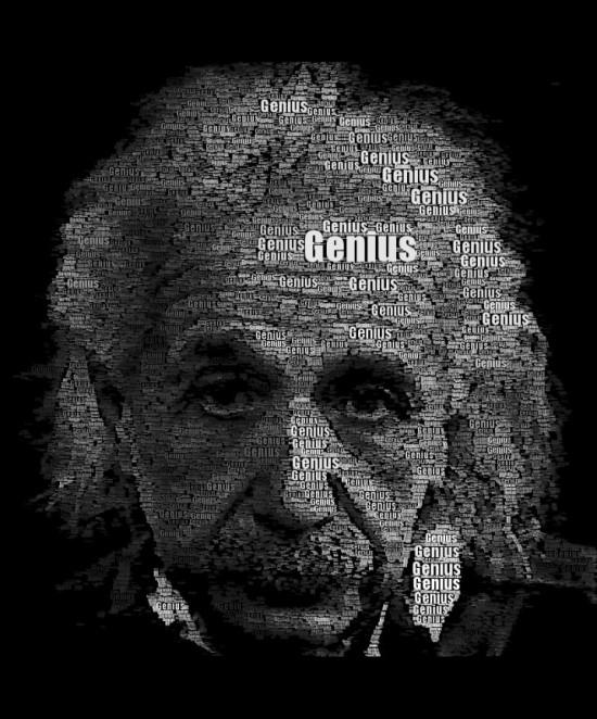 Einstein Word Portrait