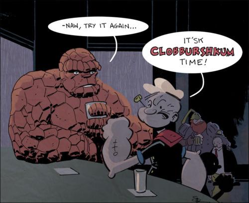 It'sk Clobburshkum Time! by Doc Shaner