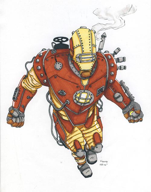 Steam Punk Iron Man by Arthelius