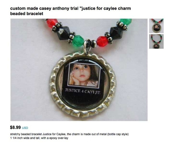 A plastic bead bracelet is the perfect item to commemorate this historic event