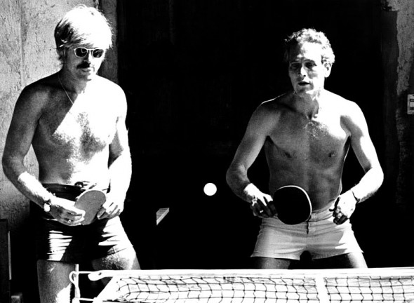 (As if you could resist a pic of a shirtless Ping Pong match with Paul Newman!)  More at Swoonwor...