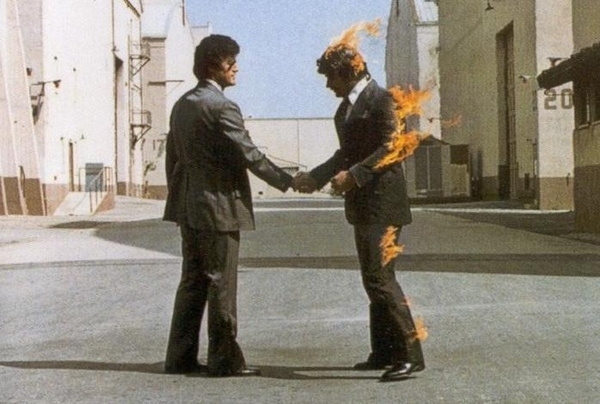 Cover of Wish You Were Here , Pink Floyd's epic 1975 album