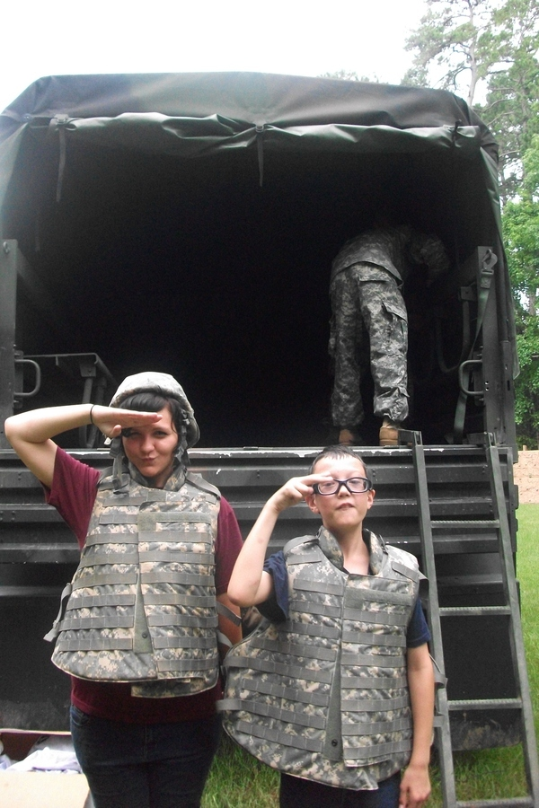 During our military week