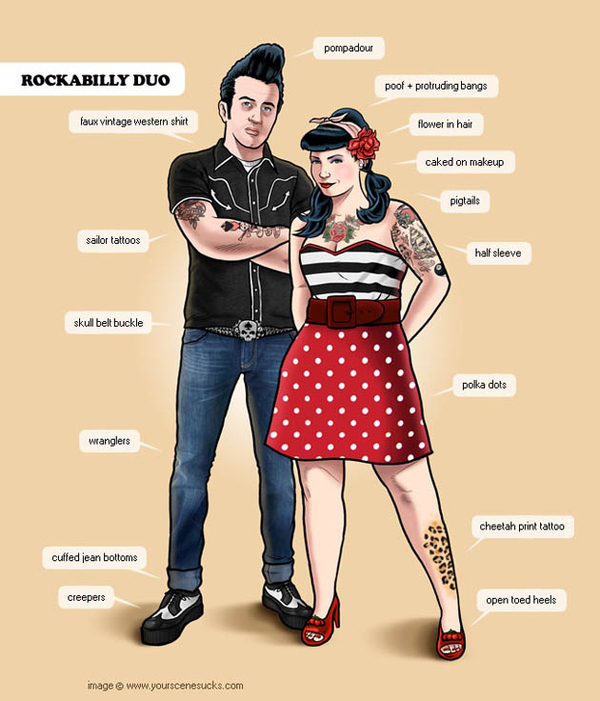 The Rockabilly lifestyle is generally what happens when punk scene veterans suffer some sort of t...