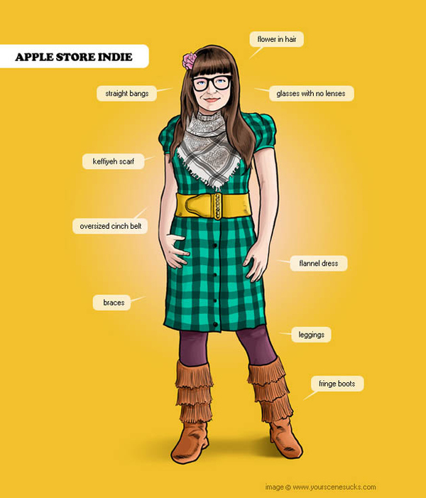 Looking something like a mix of Pocahontas and a tornado at a thrift store, the Apple Store Indie...