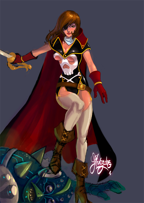 Lady Captain Harlock by silentgecko