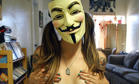 Image result for sexy girl guy fawkes mask