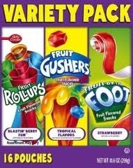 Gushers, Fruit Rollups & Fruit by the Foot