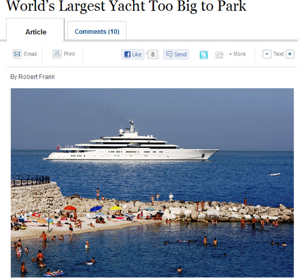 My Yachts Too Big