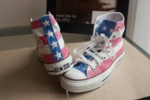 Make American-flag-inspired shoes with some paint and patience-- see how it's done here.