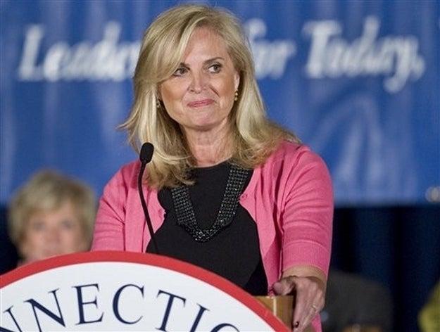 Ann Romney delivers her keynote address in Stamford.