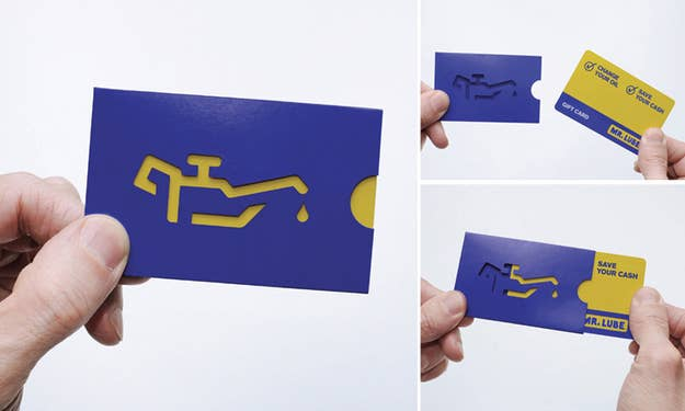 The most creative business cards you will ever see rethink canada designed this mr lube gift and business card that demonstrates what the service reheart Gallery