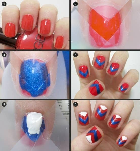 12 amazing diy nail art designs using scotch tape 8 the chevron prinsesfo Choice Image