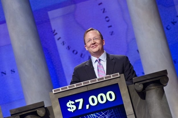 """Gibbs during a rehearsal for """"Jeopardy!"""" in April."""