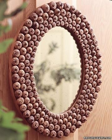 3. DIY Acorn Mirror