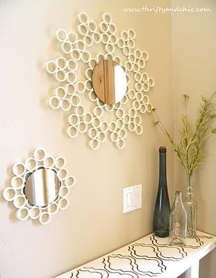 26. DIY PVC Pipe Mirror
