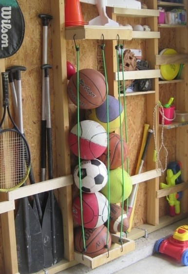 Use Cables to Store Balls