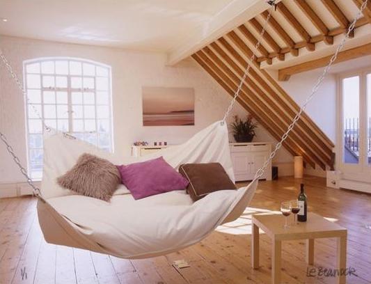 bed in a hammock