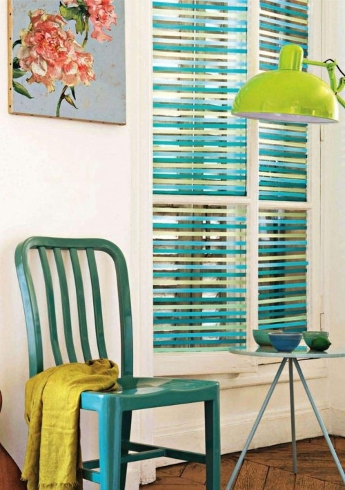 1. Colorize your window blinds.