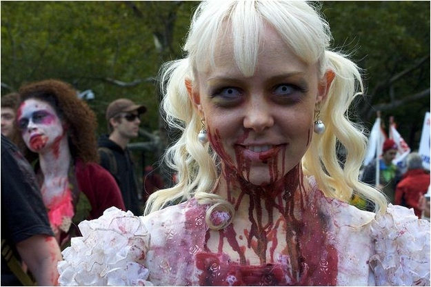 Princess zombie laughs at your misfortune